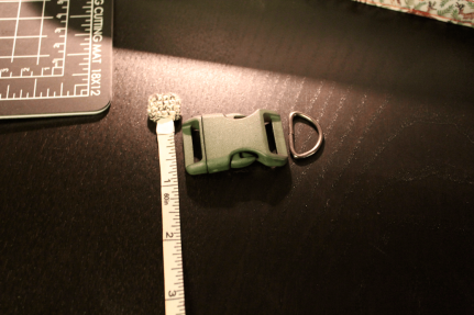 DIY dog collar measure hardware
