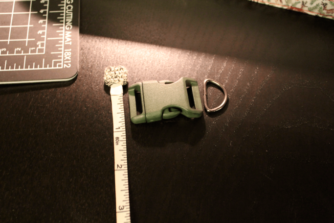DIY dog collar measure hardware