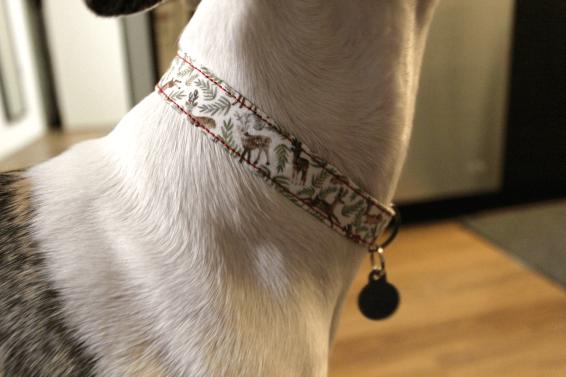 Handmade DIY dog collar reindeer 2