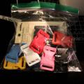 DIY dog collar colorful buckles
