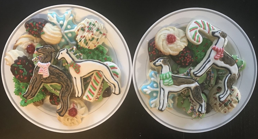 Whippet Greyhound Sugar Cookies